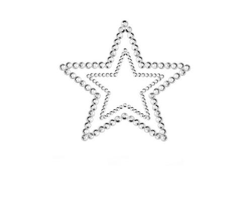 Украшения для груди со стразами MIMI Star цвет: серебристый Bijoux Indiscrets (Испания)