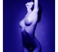 Украшения для груди и бикини со стразами FLAMBOYANT цвет: серебристо-чёрный Bijoux Indiscrets (Испания)