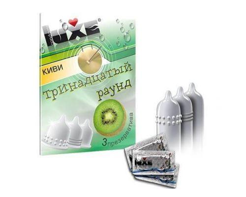 Ароматизированные презервативы Luxe Тринадцатый раунд (киви)