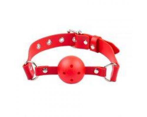 Кляп Breathable ball gag plastic, red