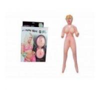 Кукла надувная Finish Girl с вставкой из киберкожи и вибростимуляцией