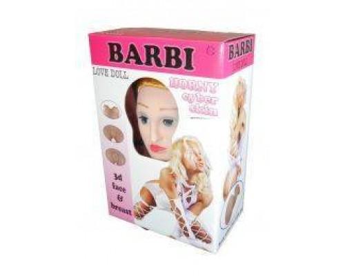 Кукла надувная BARBI- 3D с вставкой из киберкожи и вибростимуляцией