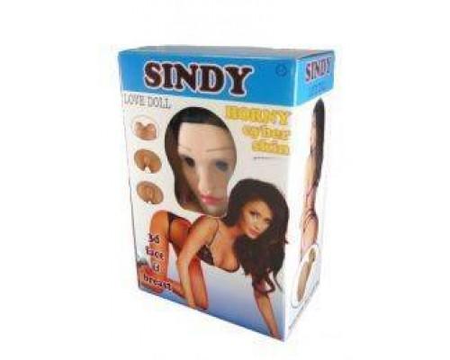 Кукла надувная SINDY 3D с вставкой из киберкожи и вибростимуляцией