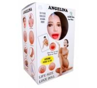 Кукла надувная ANGELINA 3D с вставкой из киберкожи и вибростимуляцией