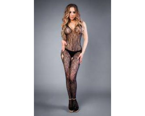 Сетка Mesh hip-hop bodystocking with openings black, S-L (40-46)