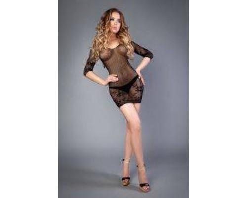 Сетка Bodystocking with mini dress black, S-L (40-46)