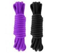 Набор веревкок для бондажа Submission 5М Black&Purple