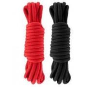 Набор веревок для бондажа Submission 5М Red&Black
