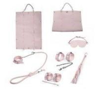 Набор для БДСМ игр BDSM-NEW PVC Bondage Set, pink