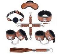 Набор для БДСМ игр BDSM-NEW PVC Snakeskin Bondage Set, brown