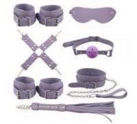Набор для БДСМ игр BDSM-NEW PVC Bondage Set, violet