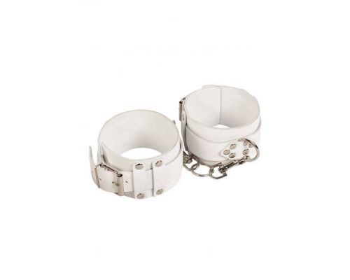 sLash - Оковы Leather Dominant Leg Cuffs,WHITE (280156)