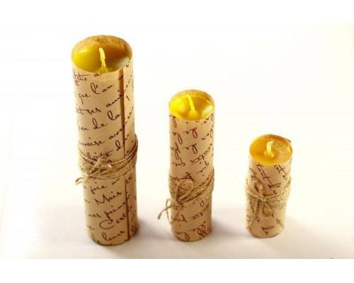 sLash - Набор свечей из 3 размеров цвет желтый (280328)