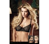 BACI - Бюстгалтер Black Bra With Transparent Stripes, 34D (B1167-BLACK-34D)