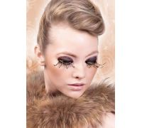 Baci Eyelashes - Реснички Brown-Gold Feather Eyelashes (B496)