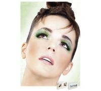 Baci Eyelashes - Реснички Light Green Glitter Eyelashes (B522)