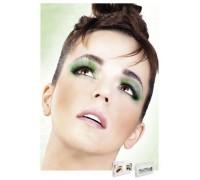 Baci Eyelashes - Реснички Light Green Glitter Eyelashes (B522)