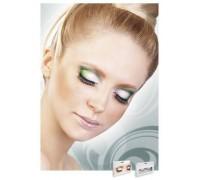 Baci Eyelashes - Реснички Black-Light Green Rhinestone Eyelashes (B590)