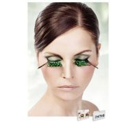 Baci Eyelashes - Реснички Light-Green Feather Eyelashes (B610)