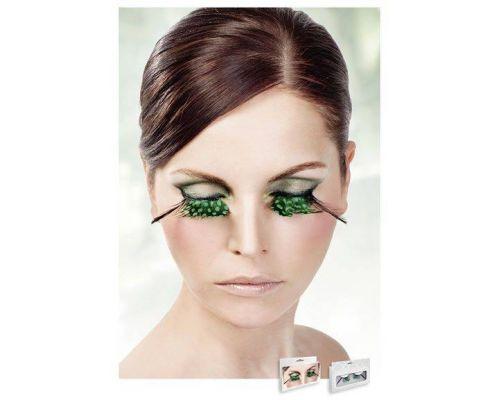 Baci Eyelashes - Реснички Light-Green Feather Eyelashes (B610)
