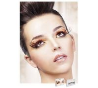 Baci Eyelashes - Реснички Black-Red Feather Eyelashes (B614)