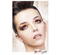 Baci Eyelashes - Реснички Black-Red Feather Eyelashes (B614)
