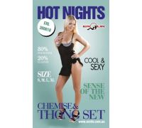 Erolin - Пеньюар и трусики Hot Nights Black-White, M (ERL300018_black+white M)