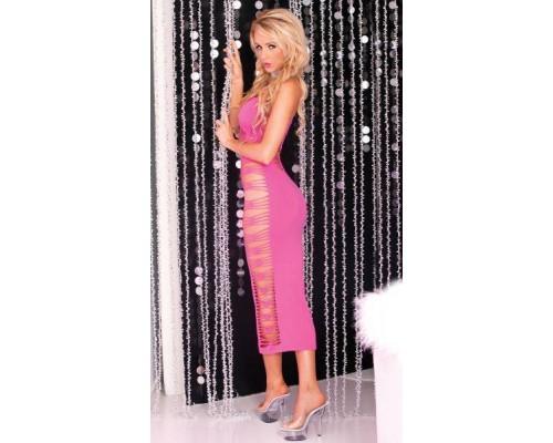 Pink Lipstick Lingerie - Платье Big Spender seamless long dress Pink (PL7225012P)