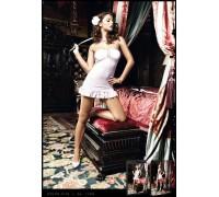BACI - Пеньюар Pink Strapless Ribbon Mini Dress (B1169-PINK-OS)