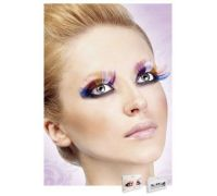 Baci Eyelashes - Реснички Multi-colored Glitter eyelashes (B529)