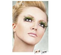Baci Eyelashes - Реснички Light green Feather Eyelashes (B629)