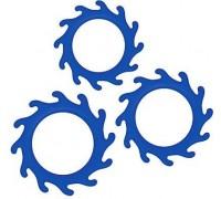NS Novelties - Набор эрекционных колец RENEGADE GEARS, BLUE (T280319)