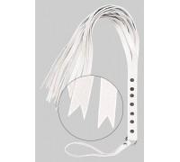 sLash - Флогер S&M Fancy Leather Floger, WHITE (280122)