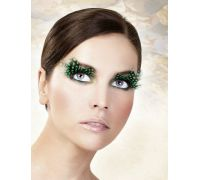 Baci Eyelashes - Реснички Black-Green Feather Eyelashes (B639)