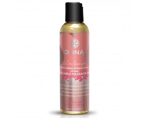 Массажное масло DONA Kissable Massage Oil Vanilla Buttercream (110 мл)