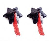 Tonga - Пестис Black Star Shape Sequin Pasties 8cm (T79YTS8BLK)