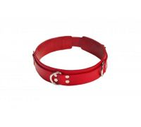 sLash - Ошейник Slave leather collar, RED (280241)