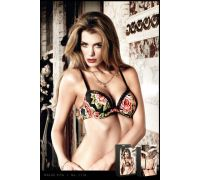 BACI - Бюстгалтер Black Padded Underwire Bra Flower, 80C (B1110-BLACK-36C)