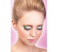 Baci Eyelashes - Реснички Black-White Rhinestone Eyelashes (B494)