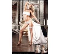 BACI - Трусики White Lace Panties, S/M (B801-WHITE-S/M)