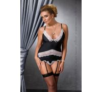 CAMILLE CORSET black 6XL/7XL - Passion