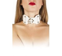 sLash - Ошейник VIP Leather Collar, WHITE (280171)