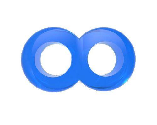 Chisa - Кольцо эрекционное Duo Cock 8 Ball Ring, BLUE (291020)
