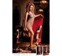 BACI - Пеньюар Leopard-Blue Lace Dress (B79-LEOPARD BLUE-OS)