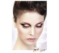 Baci Eyelashes - Реснички Black-Red-White Rhinestone Eyelashes (B507)