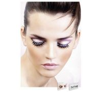 Baci Eyelashes - Реснички Black-White Rhinestone Eyelashes (B516)