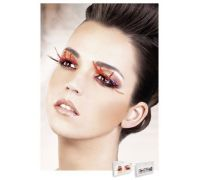 Baci Eyelashes - Реснички Black-Red Feather Eyelashes (B636)