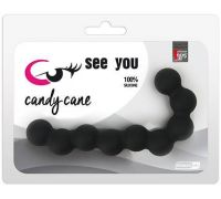 Dream Toys - SEE YOU CANDY CANE ANAL BEADS BLACK (DT21226)