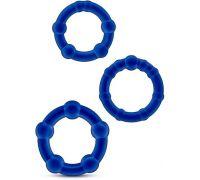 Blush - STAY HARD BEADED COCKRINGS BLUE (T330566)