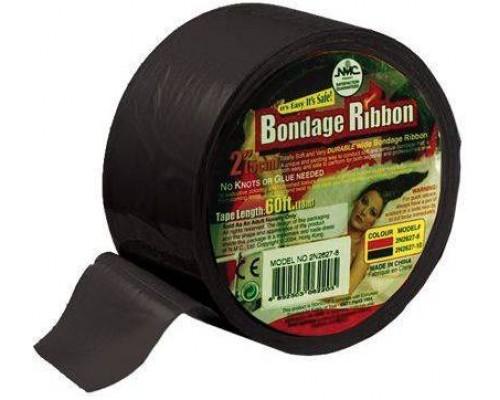 NMC - Лента для бандажа BONDAGE RIBBON 5CM/18MTR, BLACK (T160245)